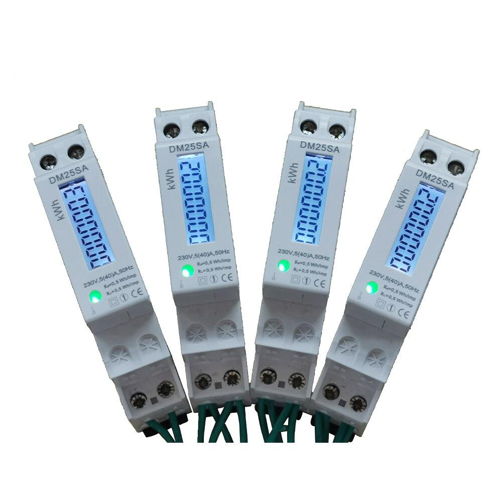 O ce bonito obteve o medidor de energia da fase monofásica de dois fios da elevada precisão do medidor de watt do medidor de energia em casa 230v/110v 5(40) a com luz de fundo