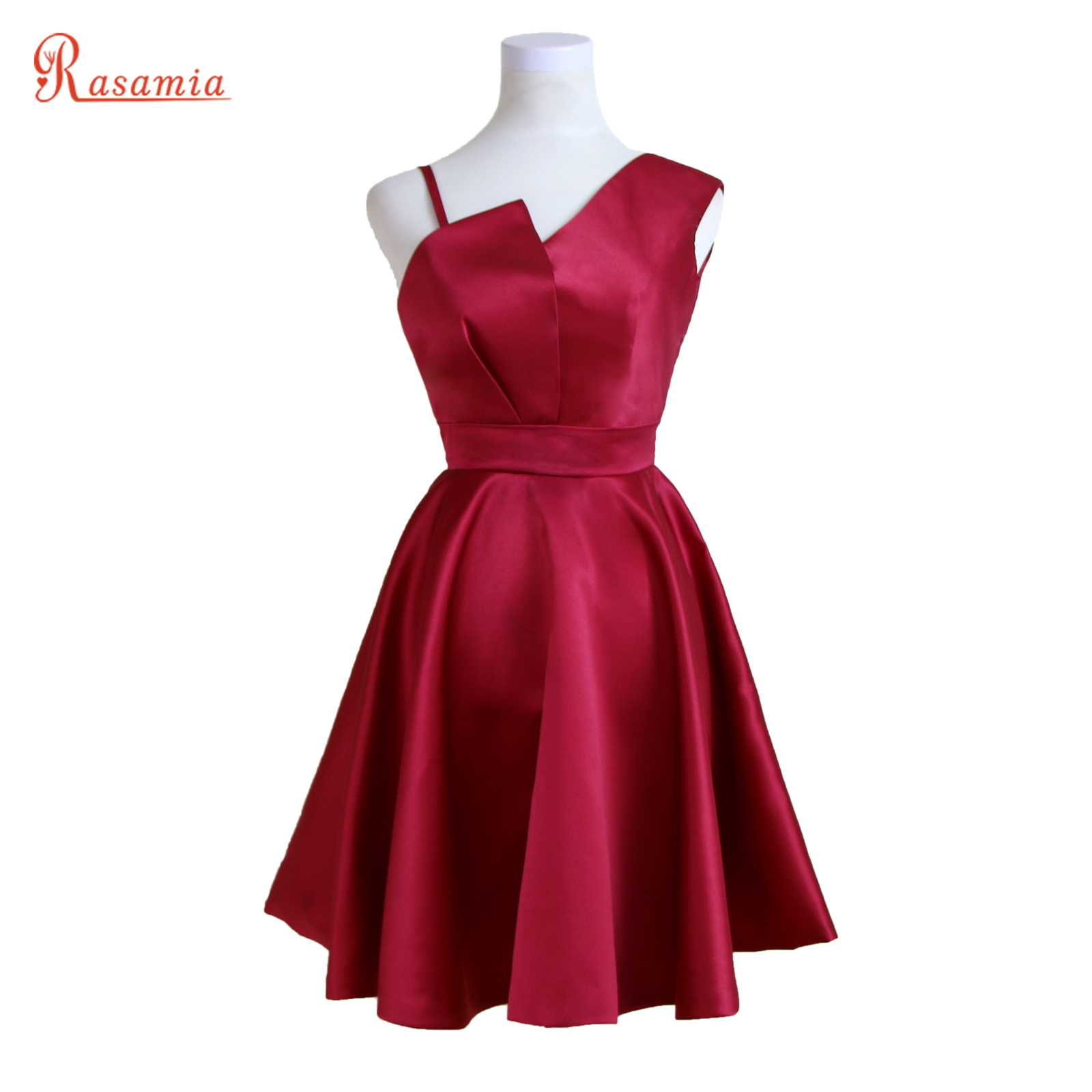 Dark red prom dress plus size knee length sexy cocktaill for Plus size dresses weddings and proms
