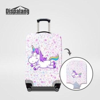 3ab28d56be Dispalang lindo unicornio elástico equipaje cubierta protectora de los  niños de dibujos animados polvo maletas cubre 18-32 pulgadas accesorios de  viaje