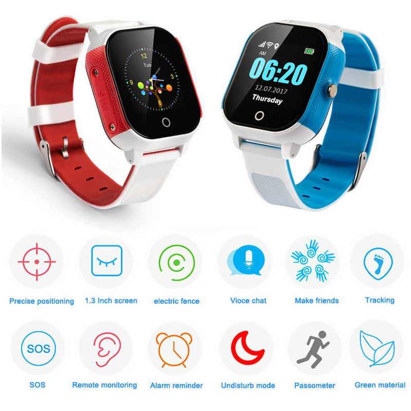 FA23 Smart Watch Baby IP67 Waterproof Children SIM Card Touch Screen GPS WIFI SOS Tracker Kids Alarm Clock Anti-Lost Smartwatch