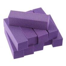 10 шт. модная губка для ногтей буферный блок маникюрный лак шлифовальный буфер для ногтей Полировка разноцветные инструменты для дизайна ногтей D40