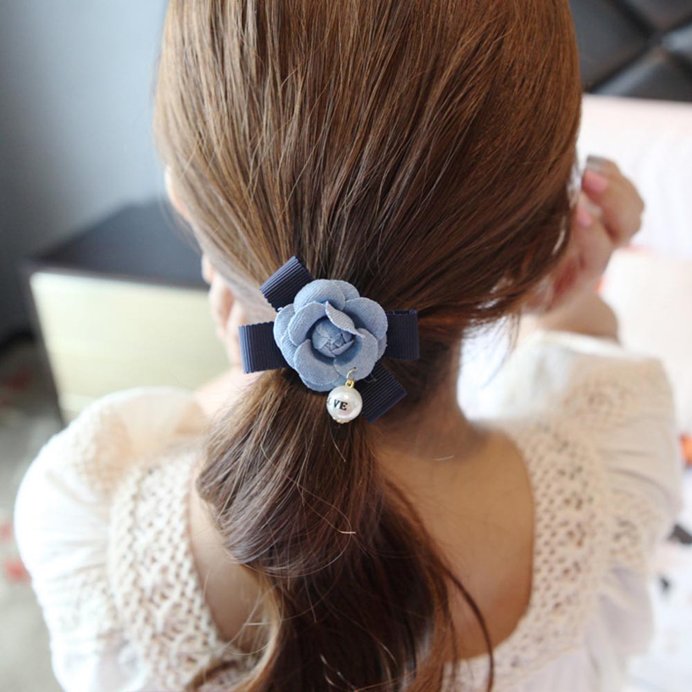 Reliable Women Korea Style Fashion Elastic Pearl Bow Hair Band Headband Accessories Women Ponytail Holder Accesorios Para El Pelo Outstanding Features Women's Hair Accessories