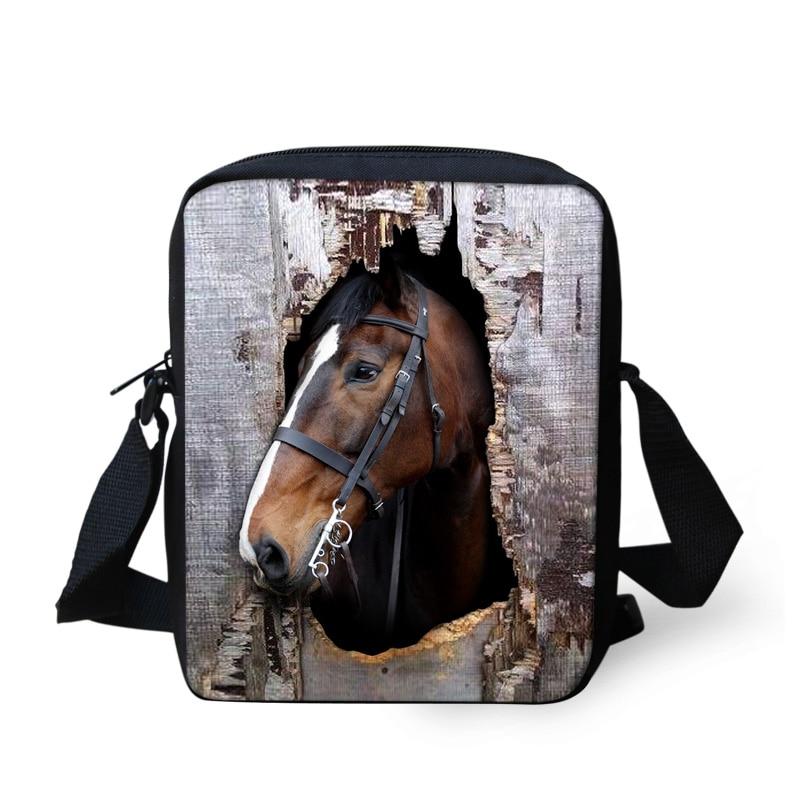 FORUDESIGNS Fashion New Design Horse Printing Messenger