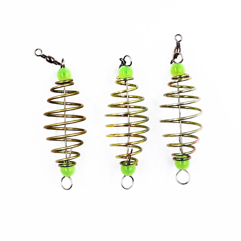 POETRYYI 1Pcs Spring Hook Blast Hook fishing Stainless Tackle Barbed Spring Fishing Bait Accessories of Fishing Pack 30