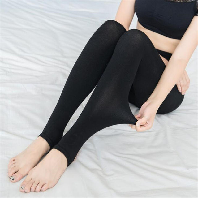 2018 New Fashion Woman Casual Warm Faux Velvet Winter Leggins Women Leggings Knitted Thick Slim Women Legins Solid Pants 26