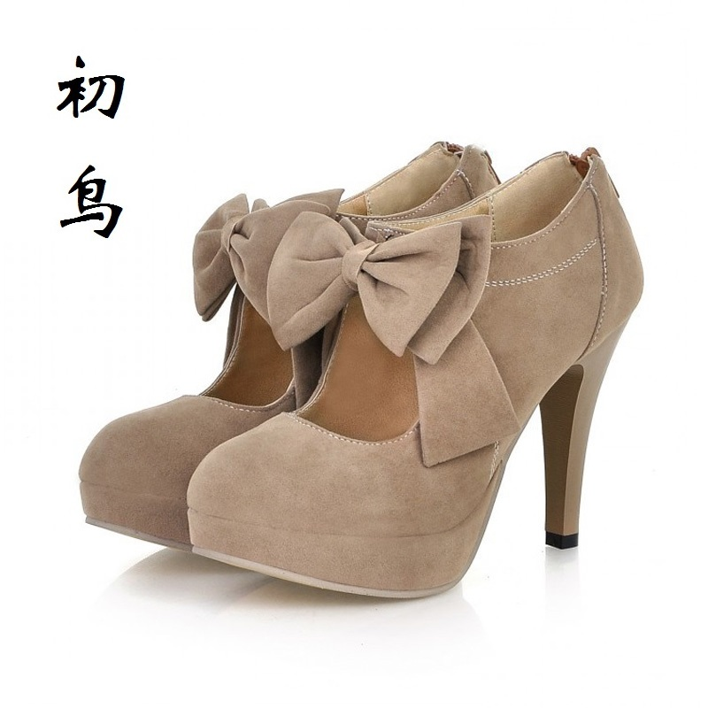 2017 Size 31-43 Fashion Butterfly-knot Sexy High Heels Women Pumps Ladies Leisure Shoes Woman Chaussure Femme Talon Mariage 2017 small size 31 43 fashion simple sexy high heels women pumps ladies office shoes woman chaussure femme talon mariage 32 33