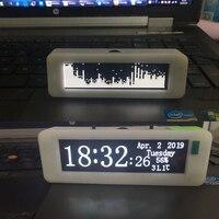 3inch OLED Music Spectrum Display Analyzer MP3 CAR Amplifier Audio Level Indicator rhythm Spectrum VU METER w clcok temp