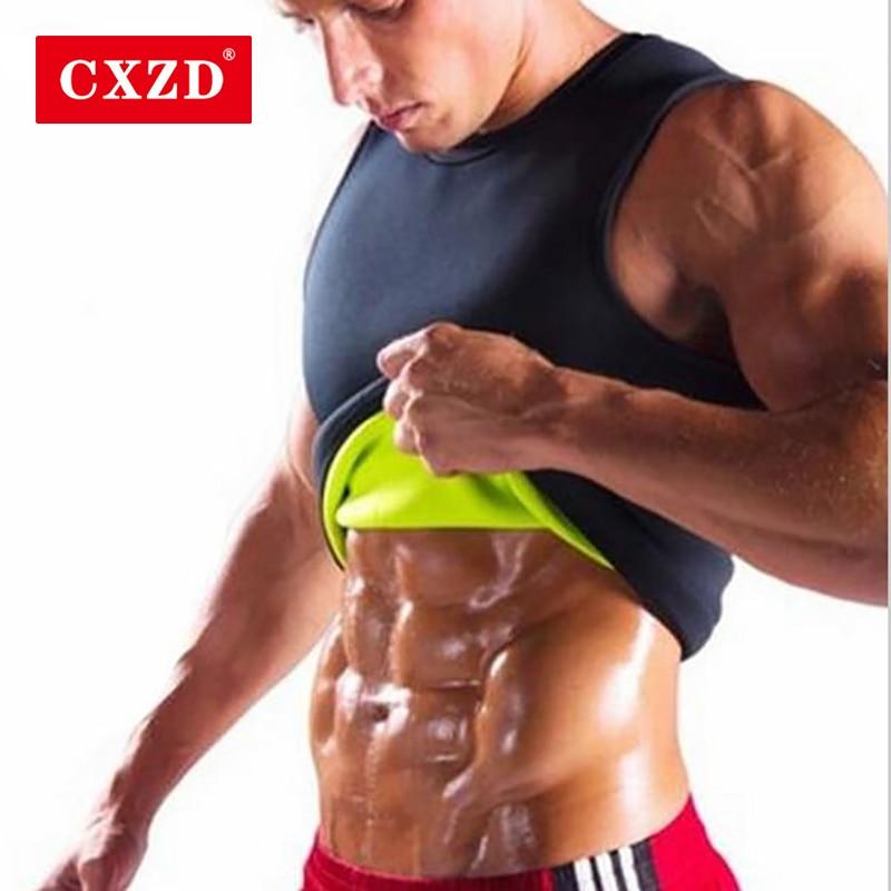 Men's Hot Sweat Body Shaper Slimming Belt Belly Men Slimming Vest Fat Burning Shaperwear Waist Sweat Corset Tummy Fat Burner