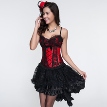 HU&GH Black Multilayer Lace Costumes Gothic Steampunk Clothing Skirt For Women Matching Corset Long Skirts Lace Skirt W46153