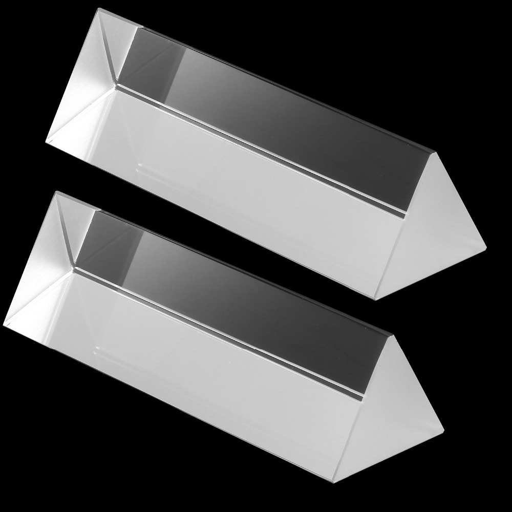 Neewer 2 Pieces 2 inches/5 cm Optical Glass Triple Triangular Prism Physics Teaching Light Spectrum Photo Studio Accessaries