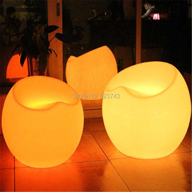 Современные Пластик коммерческих бар мебель дистанционного управления LED multicolor fauteuil падение Apple стул Lumineux аккумуляторная барные стулья