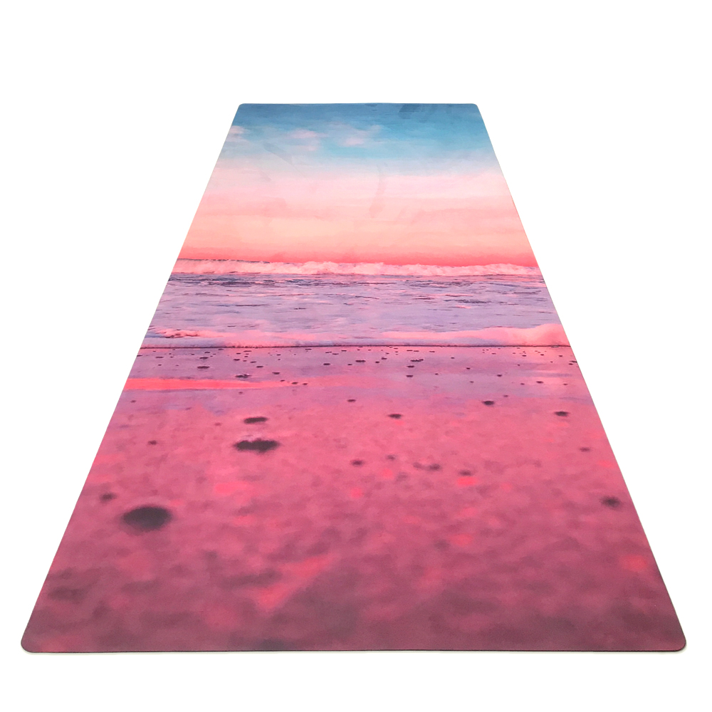 GM032 183cm*61cm*3.5mm Natural Rubber Suede Fabirc Non-Slip Environmental Protection Lose Weight Exercise Mat Fitness Yoga Mat 183cm 68cm 5mm natural rubber environmental protection suede fabric comfortable non slip exercise mat fitness yoga mat