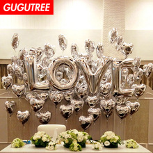 Decorate Home one set 40inch rose gold silver LOVE foil balloon wedding event christmas halloween festival birthday party HY-52