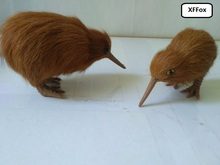 a pair of small cute simulation bird models plastic&fur Kiwi model toys about 9cm, 11cm xf0722