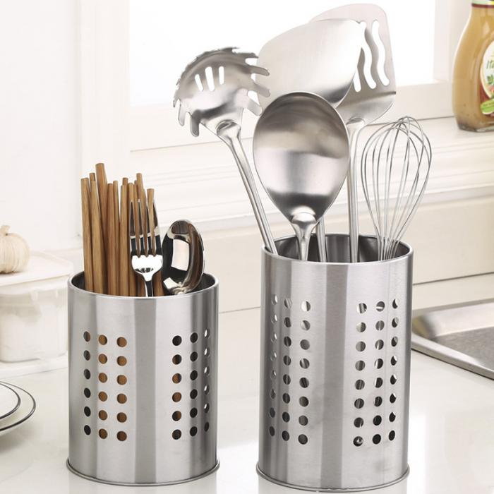 US $5.65 29% OFF|Creative Kitchen Stainless Steel Utensil Cooking Spoon  Tool Multi function Storage Tool Chopstick Holder FBE3-in Storage Holders &  ...