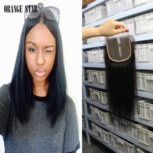 7A Grade Hair Virgin Indian Straight Hair Lace Top Closure Size 4×4 Indian Lace Closure Bleached Knots 10-24 Inch Instock XS134