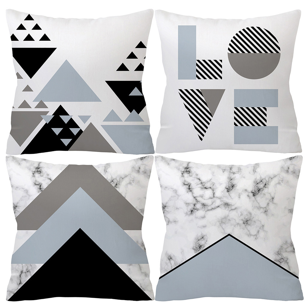 Fashion Gray Pillowcase Soft Fur Plush Throw Pillowcases Cover Home Bed Room Sofa Decoration Furry Waist Comfort Cushion Cover-in Cushion Cover from Home & Garden