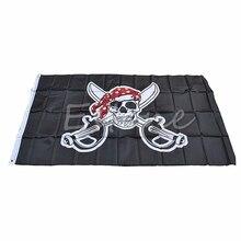 THINKTHEDO) большой пират с банданой 90*150 см флаг череп и скрещенные кости Веселый Роджер баннер APR14_17