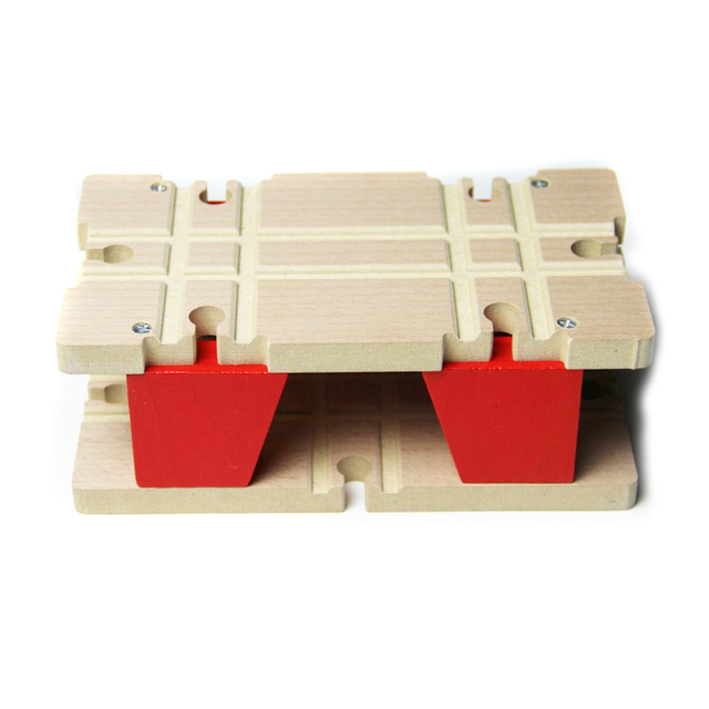 P051 Double rail hub wooden Thomas train tracks compatible accessories suitable for wood and electric  Thomas