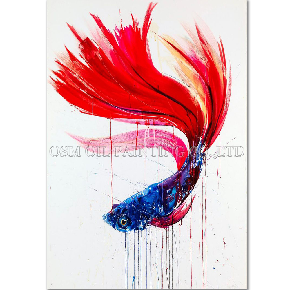 ④High Skills Artist Handmade High Quality Modern Animal Fish Oil ...