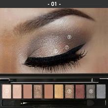 FOCALLURE  10 colors Matte Eyeshadow Palette Waterproof Shimmer Eyes Shadow Glitter Women Makeup Cosmetic