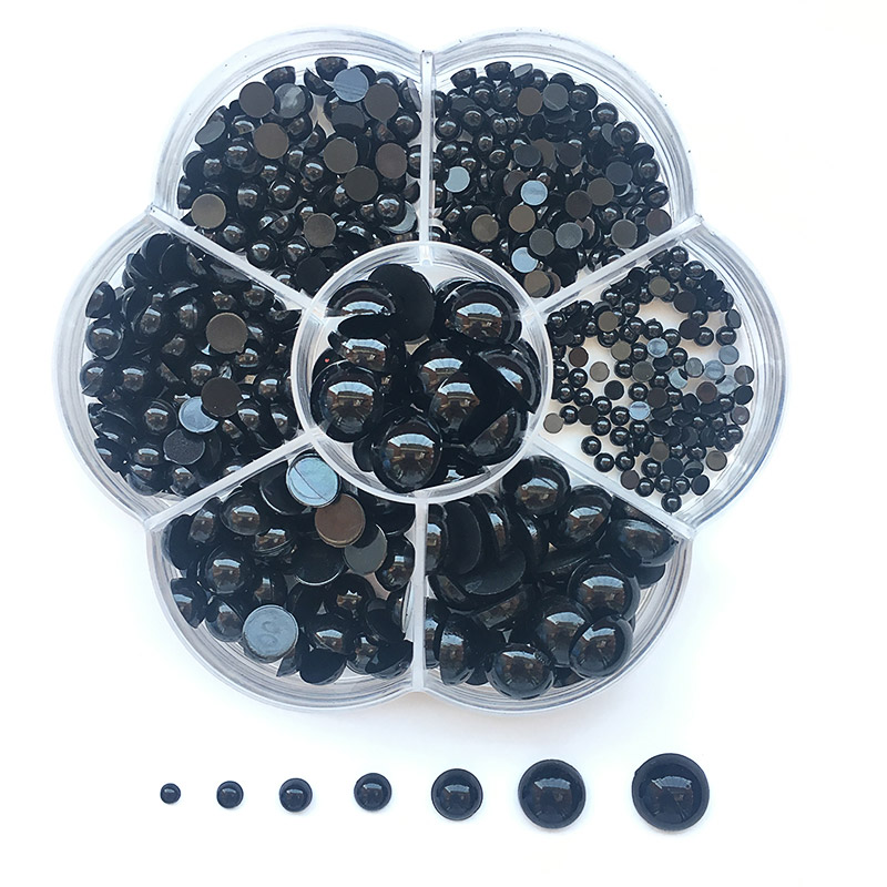 3-12mm 500pcs Round Flat Black Eyes Plastic Eyes For Dolls Making Toys For Teddy Bear Dolls Eyes Amigurumi Doll Accessories