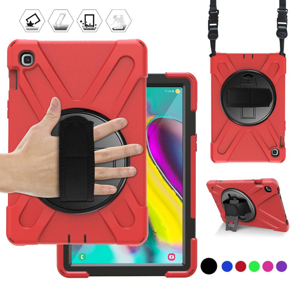 Case for Samsung Galaxy Tab S5E 10.5 SM-T720 SM-T725 2019 360 Heavy Duty Hand Strap Shoulder Strap Kids Rugged Protective Cover