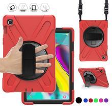 Funda protectora resistente para Samsung Galaxy Tab S5E 10,5, SM T720, SM T725, 2019, 360, correa de mano para el hombro, para niños