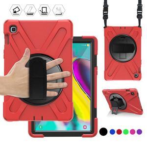 Image 1 - מקרה עבור Samsung Galaxy Tab S5E 10.5 SM T720 SM T725 2019 360 כבד החובה יד רצועת כתף רצועת ילדים מוקשח מגן כיסוי