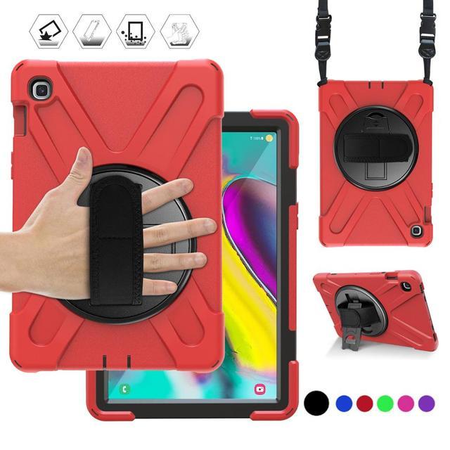 מקרה עבור Samsung Galaxy Tab S5E 10.5 SM T720 SM T725 2019 360 כבד החובה יד רצועת כתף רצועת ילדים מוקשח מגן כיסוי