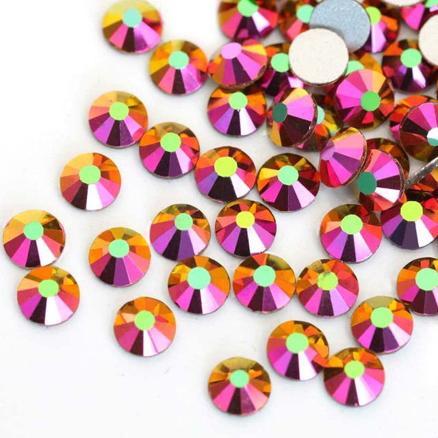 2028 SS3-SS30 Rainbow Rose Gold AB Non Hot Fix Rhinestones Crystal Strass Nail  Art Stone for Nails Decorations F0002 3a8327561e7b