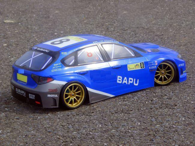 YUKALA 1/10 RC car parts 1:10 R/C car body shell 190mm No 038 blue /black