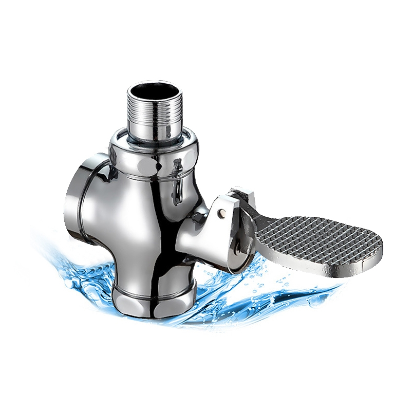 Koperen Badkamer Squat Pan Drukspoelers Voet Drukken Soort Kruk Drukspoeler Flusher Vertraging Zelfsluitende Toiletspoeling Klep