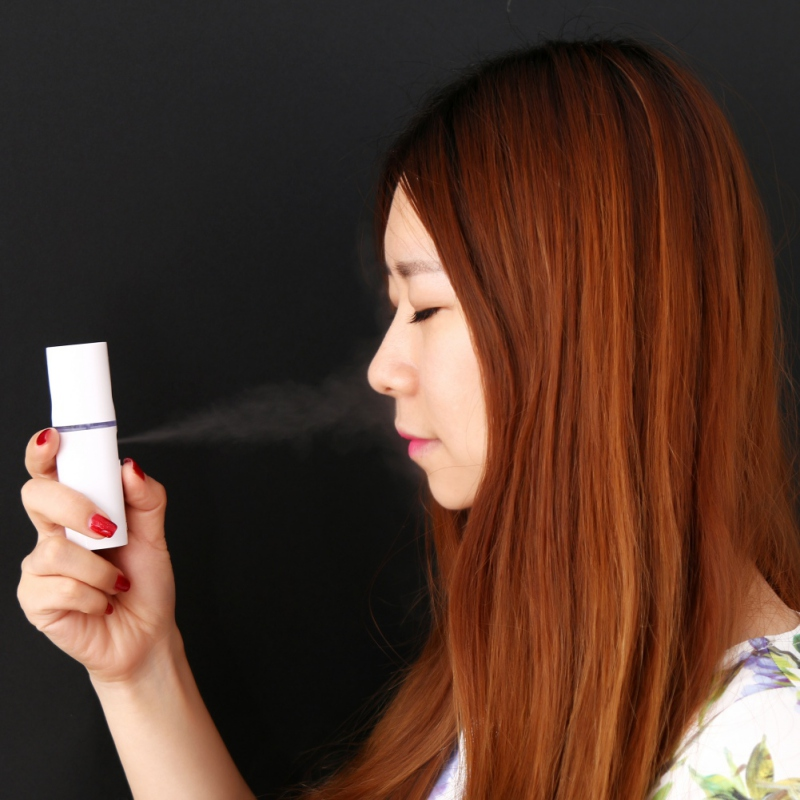 Portable Face Cleaning Nano Sprayer Handy Mist Facial Nebulizer Steamer USB Moisturizing Hydrating Nano Ion Cold Hot Humidifier the best usb rechargeable nano ion hydro spa handy mist sprayer facial mister steamer deep moisturizing personal humidifier