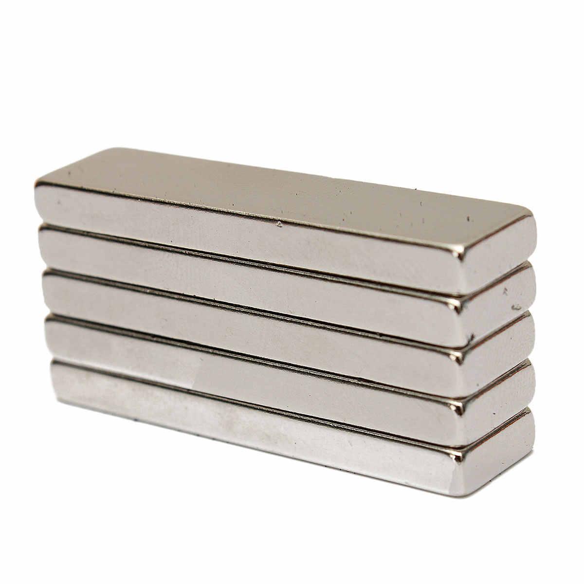 5 шт. N35 Сильные блочные кубовидные Магниты редкоземельные неодимовые 40x10x4 мм
