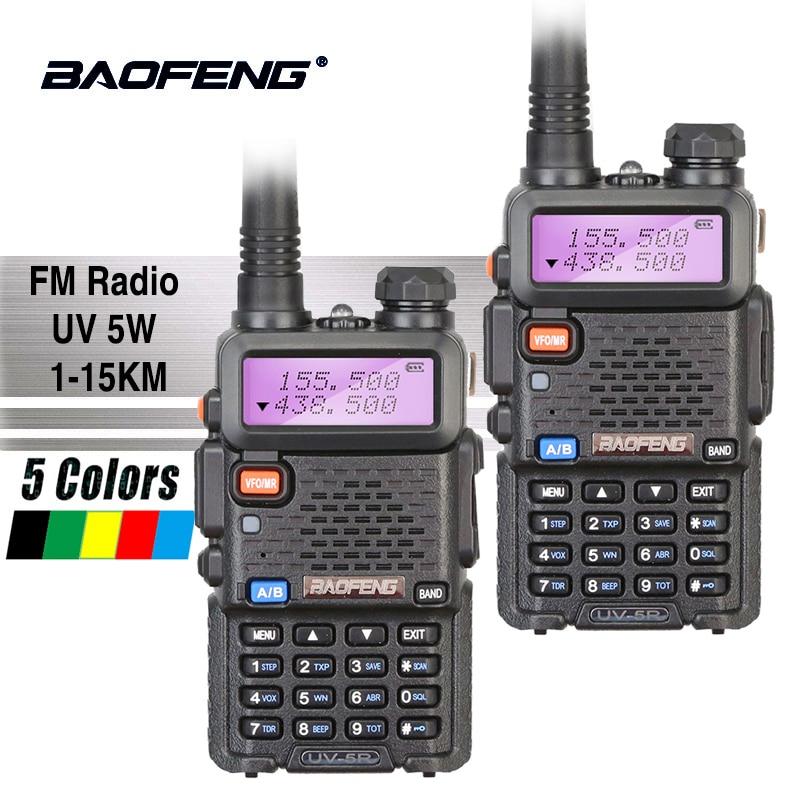 2 pcs Baofeng UV-5R Vente Chaude Talkie Walkie 5 w Vhf Uhf Dual Band Portable Woki Toki UV5R Pofung CB jambon Radio Station Baofeng UV 5R