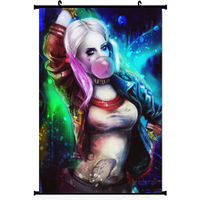 Anime Harley Quinn Suicide Squad Movie Silk Poster Wall Scroll Japan
