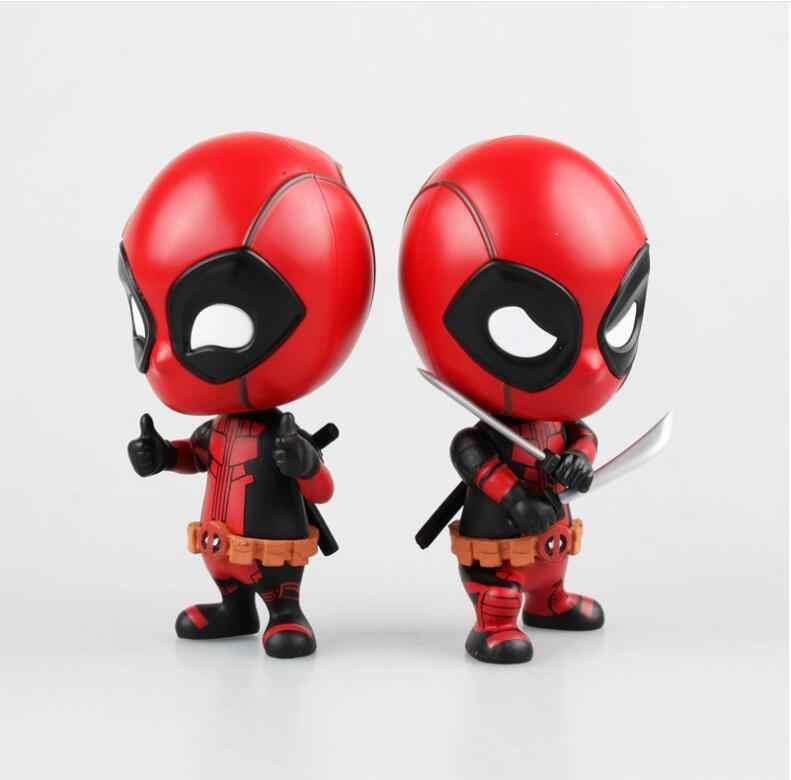 8 cm escala pintado Deadpool Deadpool ação anime figura Bobble-Head Boneca aranha ação PVC figura de ação brinquedo & figuras de brinquedo