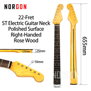 Norgon 22-Fret TL Electric Guitar Neck Matte/Polished Maple/Rose WoodFingerboard Left-Handed Guitar Parts and Accessories GS2 new electric guitar neck maple wood left hand 22 fret 25 5 inch big head stock