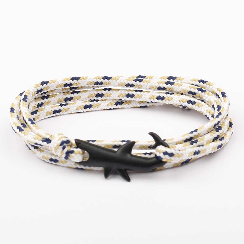 CUTEECO браслет мужской акула браслет с якорем Шарм цепочка женский браслет для браслетов крючки ювелирные изделия мужской обруча якорь браслет