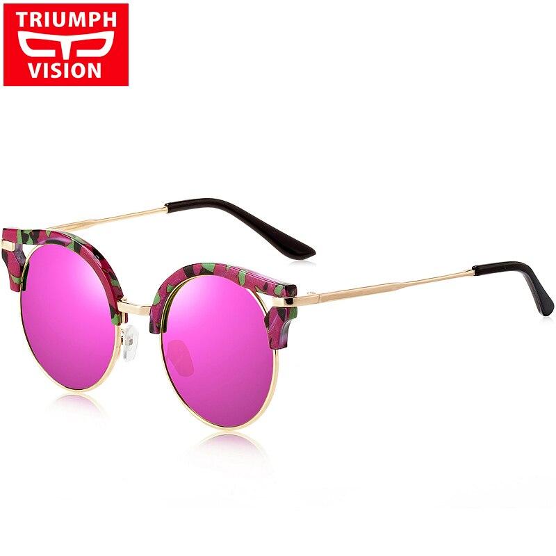 ed70b42891 Vintage ronda Sol Gafas mujeres marca diseñador Gafas gafas de sol mujeres  retro multicolor elegante oculos gafas de sol femenino