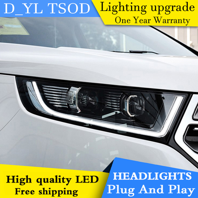 Car Styling Headlights For Ford Edge  Led Headlight For Ford Edge Head Lamp Led Daytime