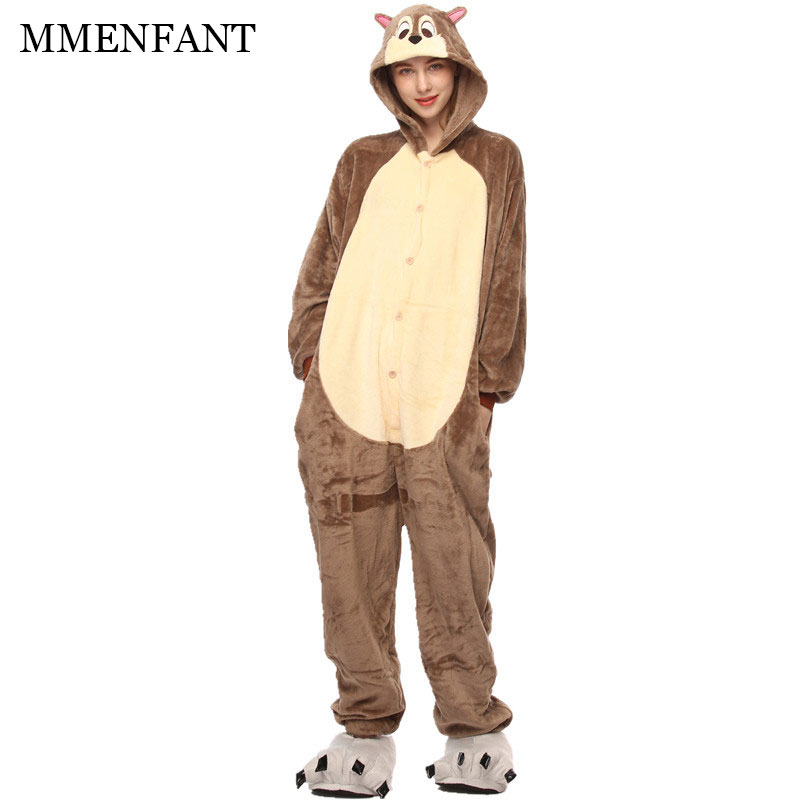 Unisex children and Adult male female Pajamas Plush One Piece Spear mice Animal Party Christmas Costume Winter Warm Sleepwear