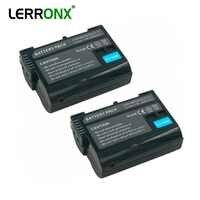 2 pièces Numérique Rechargeable batterie EN-EL15 EN EL15 2550mAh Li-ion batterie pour appareil photo Nikon D7500 D7000 D500 D600 D800 D8100