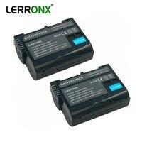2PCS Rechargeable Digital battery EN EL15 EN EL15 2550mAh Li ion camera battery for Nikon D7500 D7000 D500 D600 D800 D8100
