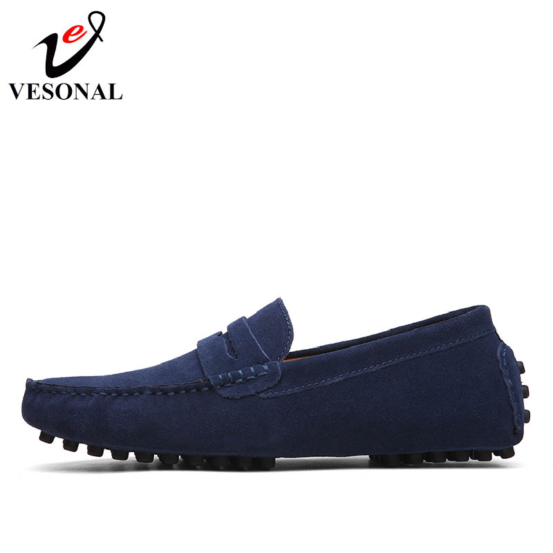 VESONAL Spring Summer Breathable Moccasins Men Loafers Shoes Male Flats Genuine Leather Casual Boat Walking Driver Footwear 2018 the spring and summer men casual shoes men leather lace shoes soled breathable sneaker lightweight british black shoes men