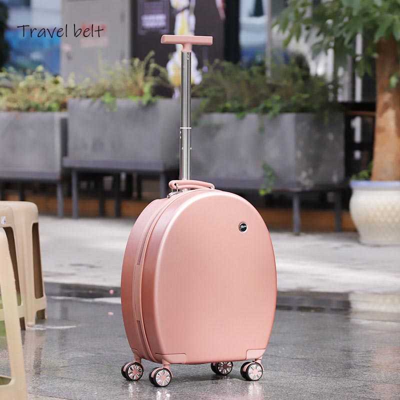 Can sit Women Korean Rolling Luggage Spinner 20 inch High capacity Fashion Travel Bags Password Cabin Suitcase Wheels