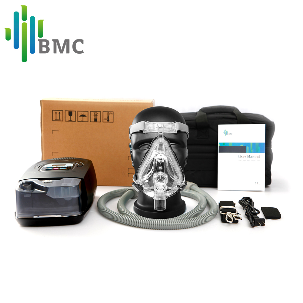 Image 5 - BMC GI Auto CPAP Machine Black Shell Smart Home Care Respirator For Sleep Snoring Apnea Therapy With Humidifier and CPAP Mask-in CPAP from Beauty & Health
