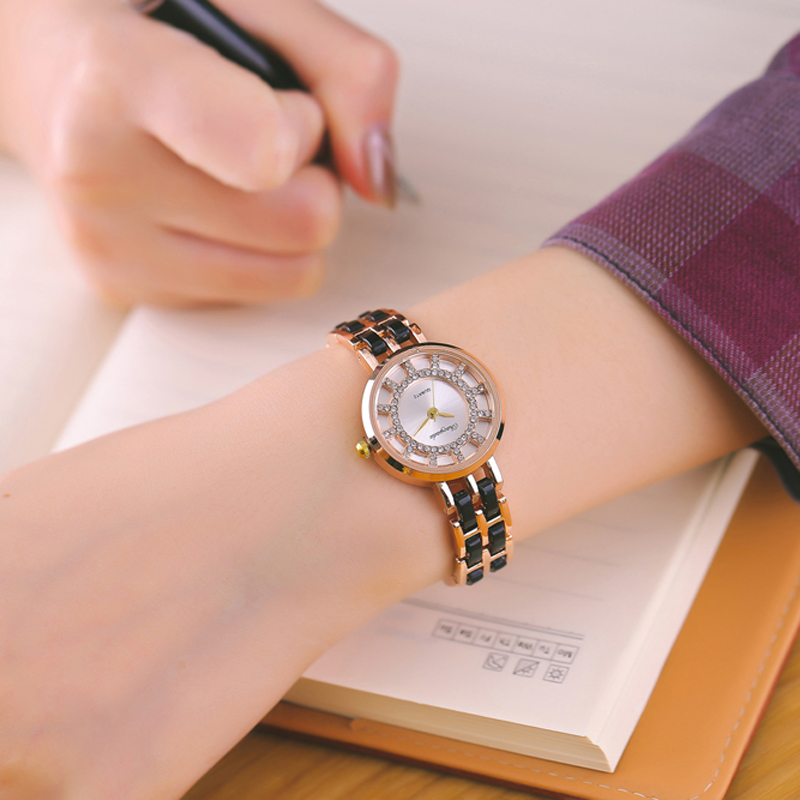 CYD fashion women watches with diamond rose gold watch ladie