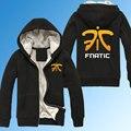 LOL CS CSGO Gaming Team Clan Fnatic Winter Thicken Hoodies Sweatshirt personalized Coat Hoodie